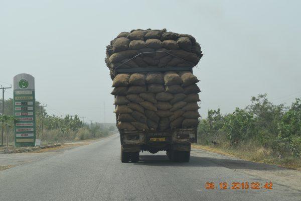 Ghana Trip - Dec 2015 - Truck with Crops