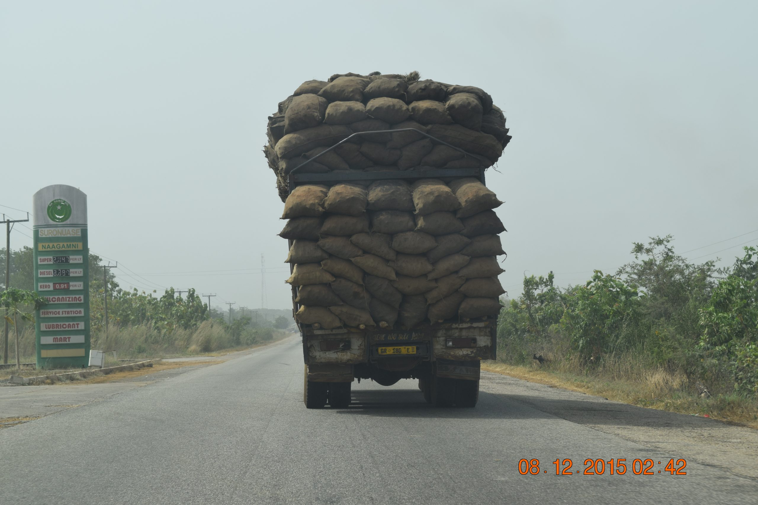 Ghana Trip - Dec 2015 - Truck with Crops
